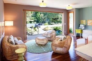 Use rattan material in interior design