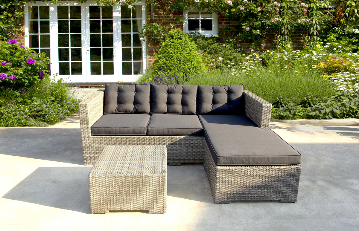 WICKER CORNER SOFA SET